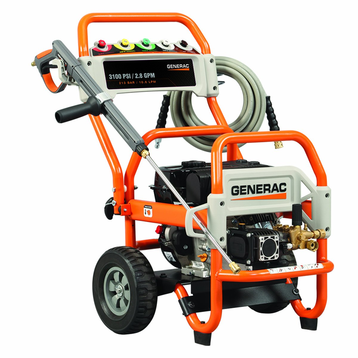 Generac 5994 3,100 PSI 2.8 GPM 212cc OHV Gas Powered Commercial Pressure Washer (CARB Compliant) at Sears.com
