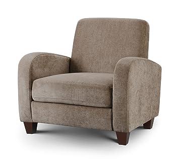 Vivo Chair Mink Chenille Fabric Luxurious Classic Retro Style