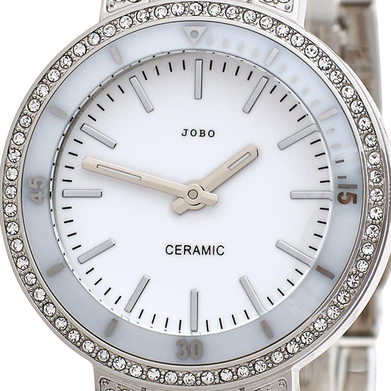 Damen-Armbanduhr Quarz Analog Edelstahl Keramik Kristall-Elements jetzt kaufen