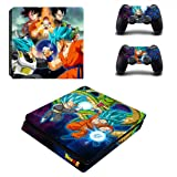 Vinyl Skin Sticker Cover Decal Faceplate Case for Playstation 4 PS4 S Slim + 2 Free Controller Skin