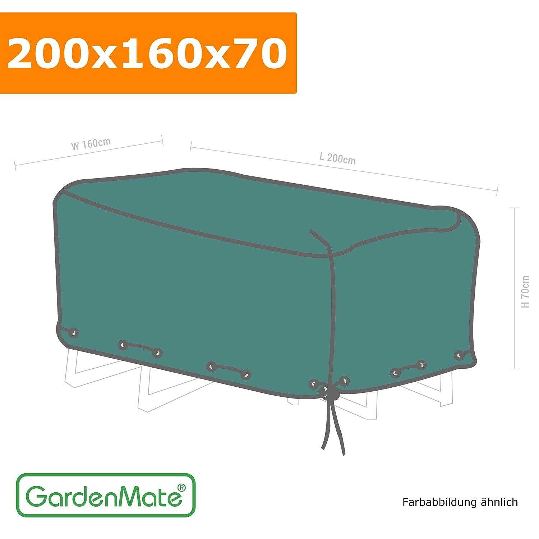 GardenMate® Schutzhülle für Gartenmöbel – 200x160x70cm – Premiumqualität aus 120gsm PE Gewebe (200x160x70cm) jetzt kaufen