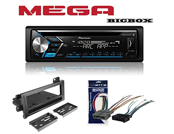Pioneer DEH-S4000BT Single 1 DIN CD MP3 Player Bluetooth MIXTRAX USB AUX W/Metra 99-6000 Single DIN Installation Kit for 1974-2003 Chrysler, Dodge, Eagle, Jeep, and Plymouth Vehicles