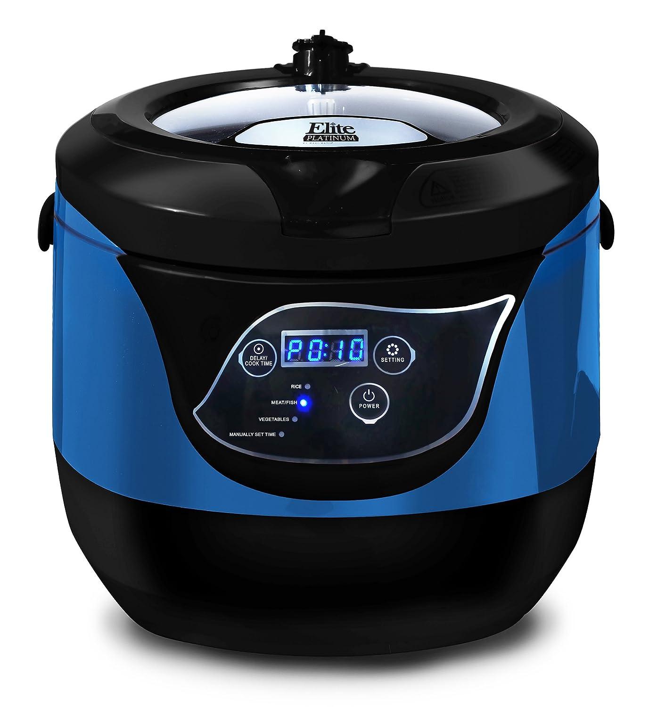 Maxi-Matic Elite Platinum Smart and Healthy Low Pressure Cooker, Blue