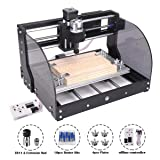 MYSWEETY CNC 3018PRO-M Mini CNC Machine, with Offline Controller GRBL Control DIY Laser Engraving CNC Router, 3 Axis Pcb Milling Machine, Wood Router Engraver, with ER11 and 5mm Extension Rod