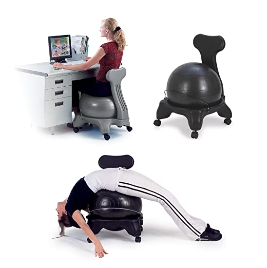 Sivan Health and Fitness Balance Fit Chair with Ball and Pump Review