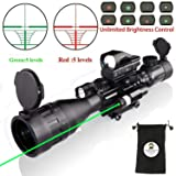 Rifle Scope Combo C4-16x50EG with Green Laser / 4 Holographic Red&Green Dot Sight (Color: New Update Laser and Red Dot)