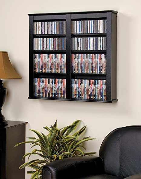 Prepac CFW-0349 Black & Cherry Double Floating Wall Storage