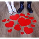Heart Floor Decals Stickers for Valentine's Day Party Decoration Wedding Anniversary (Tamaño: Anti-Stress178)