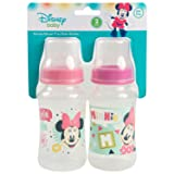 Disney Minnie Mouse 2 Pack 11 Ounce Bottles, Hello Print (Color: Hello Print)