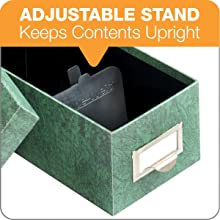 Globe-Weis Fiberboard Index Card Storage Box, 3 x 5 Inches, Green (93 GRE)