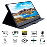 WIMAXIT Portable Touch Monitor, 13.3 Inch Ultrathin IPS 1920X1080 16:9 Display,10 Points Capacitive Touch,HDMI/Two Type-C(USB C)/ Built-in Speakers Gaming Monitor for Raspberry Pi PS3/PS4/Xbox 360 PC (Color: 13.3inch TouchScreen)