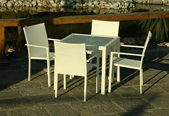 Tavolo Maiorca 80X80 Bianco