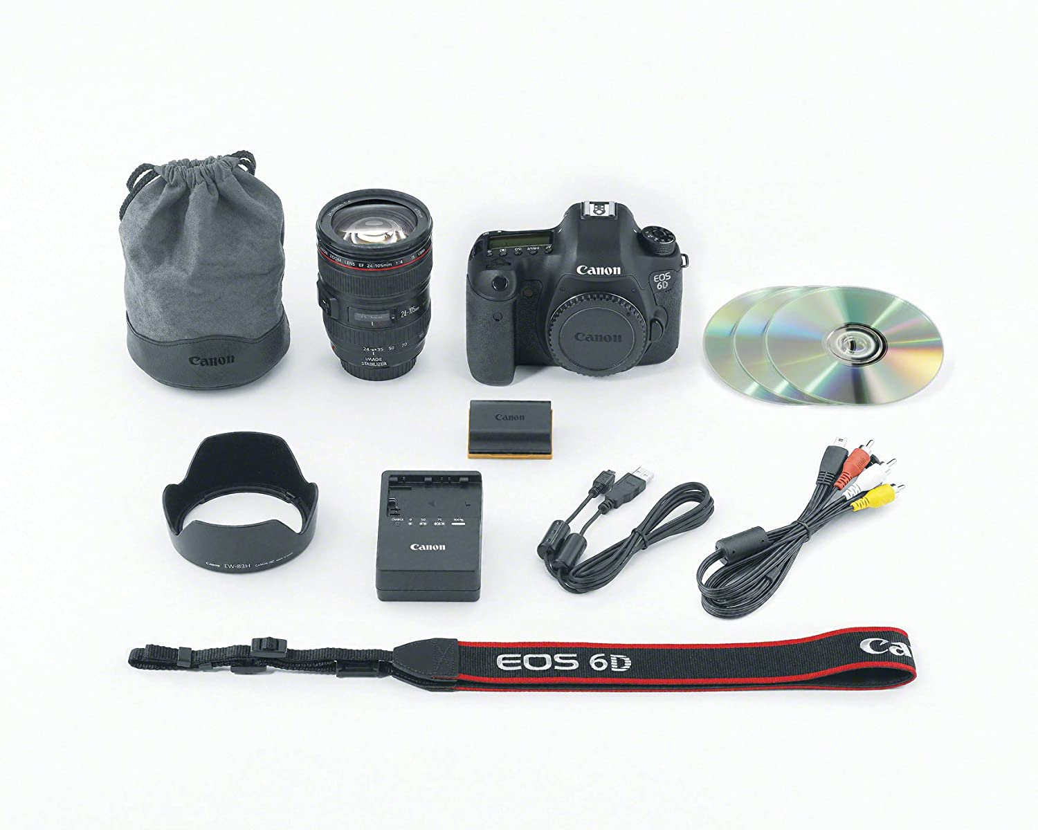 Canon EOS 6D 20.2 MP CMOS Digital SLR Camera with 3.0-Inch LCD and EF24-105mm IS Lens Kit $2,449.00
