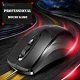 Professional Gaming Mouse 1600 DPI 3 Buttons 3D Optical USB Wired Computer Mice Gamer Mouse For Laptop PC Home Office Use Maus