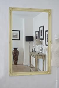 5Ft6 X 3Ft6 167cm X 106cm Large Ivory Shabby Chic Ornate Cream Big Wall Mirror       Customer reviews and more information