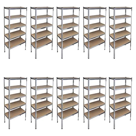 vidaXL Storage Rack Garage Shelf 10pcs