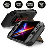 RevoGuard Slim Heavy Duty Switch Case [Stores 5 Games] Compact Multi Angle Holder Play Stand for Nintendo Switch 2.0