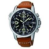 Seiko Men's SSC081 Adventure-Solar Classic Casual Watch (Color: Black, Tamaño: Men's Standard)