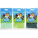 Perler Bead Bag 1000, 3-Pack - Mint, Sour Apple and Forest (Color: Mint, Sour Apple & Forest)