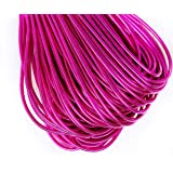 10g Fuchsia Pink Round Smooth Copper Hand Embroidery French Fine Metallic Wire Goldwork Bullion Luneville Tambour Indian Gimp Dabka Purl (Color: Fuchsia Pink, Tamaño: 1mm)
