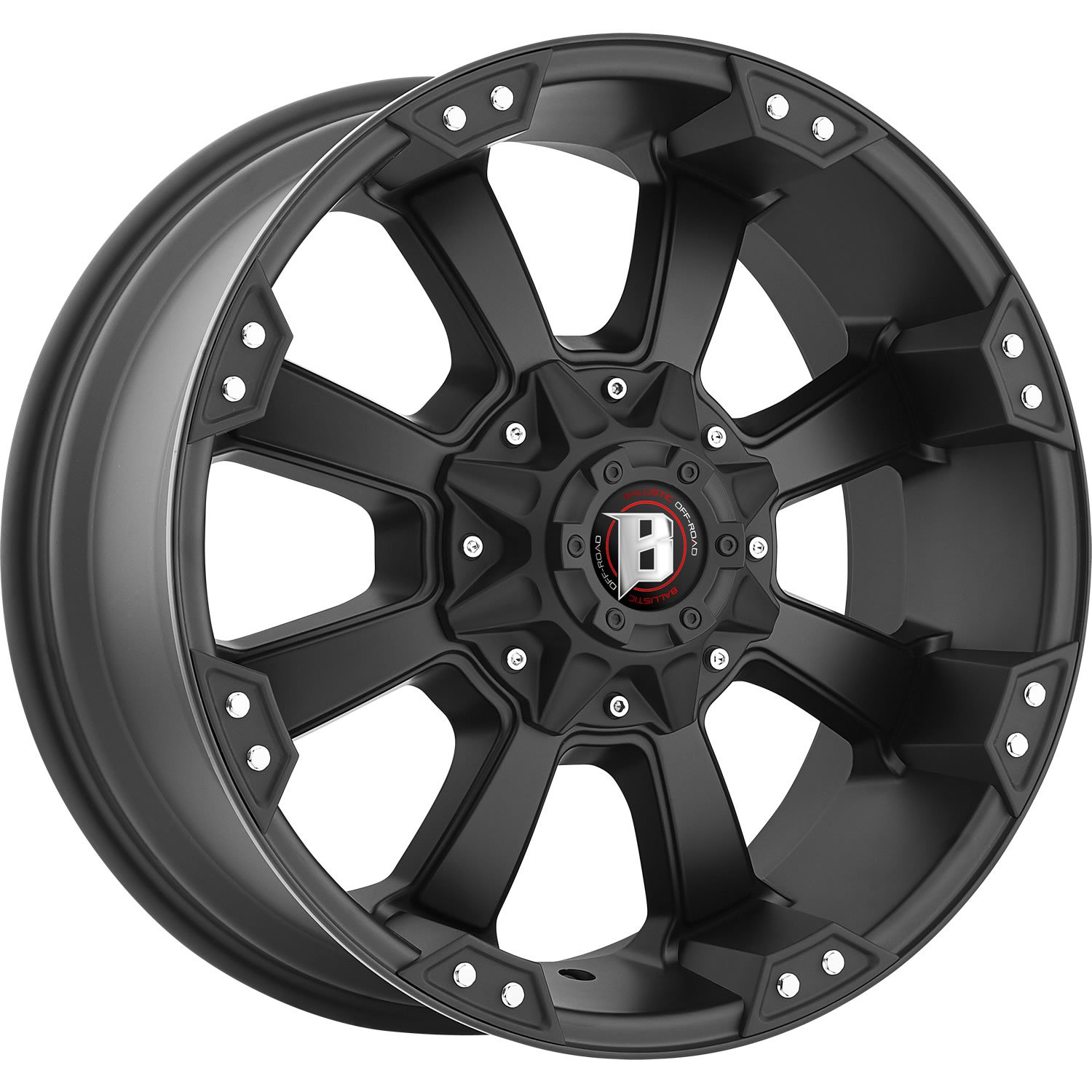 Ballistic Morax 18 Black Wheel / Rim 8x170 with a -12mm Offset and a 130.8 Hub Bore. Partnumber 845890867-12FB