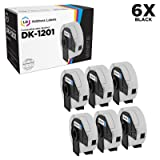 LD Compatible Address Label Replacement for Brother DK-1201 1.1 in x 3.5 in (400 Labels, 6-Pack) (Color: 6rolls- White Labels)