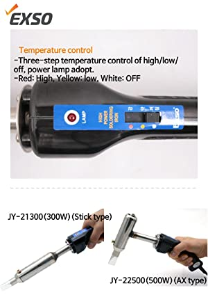 EXSO High Temp Heavy Duty Soldering for big ground connection, earth wire and steel plate, 500W 110V Adjustable Temperature Welding tool. (Color: JY-22500(500W)(Ax type))