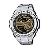 G-Shock GST-210D-9A G-Steel Series Luxury Watch - Silver/Gold / One Size (Color: Silver, Tamaño: O/S)