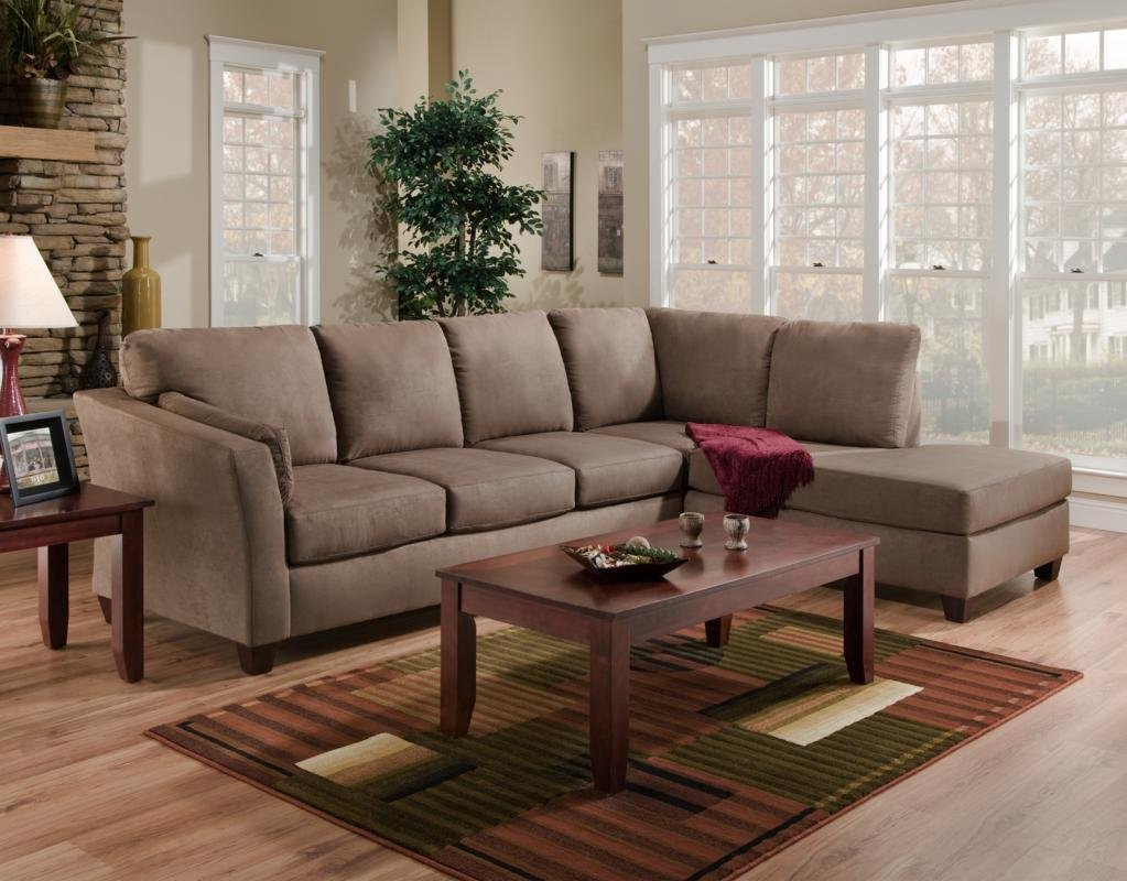 Chelsea Home Furniture Broome 2-Piece Sectional - Glacier Dark Brown