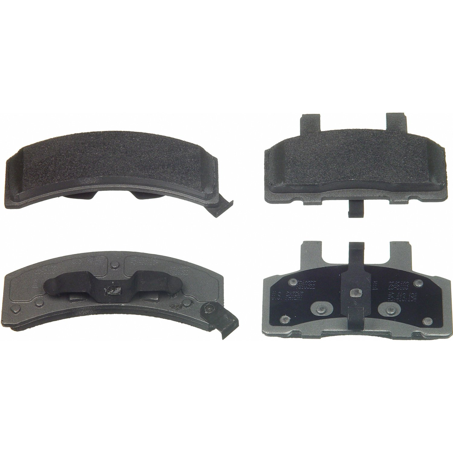 Wagner ThermoQuiet MX369 Semi-Metallic Disc Pad Set, Front wagner thermoquiet pab246r riveted brake shoe set front