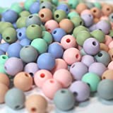 250pc 9mm Silicone Loose Bead Craft Set (Pastel) | for Jewelry, Teethers, Necklaces & Bracelets BPA Free/Non-Toxic (Color: Pastel)