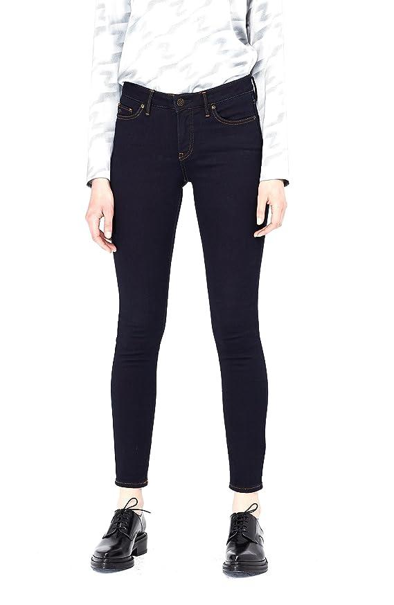 Armani Exchange Womens Super Skinny Dark Tech Jean