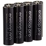 Eneloop Pro AA High Capacity Ni-MH 2550mAh (Min. 2450mAh) Pre-Charged Rechargeable Battery with Holder Pack of 8