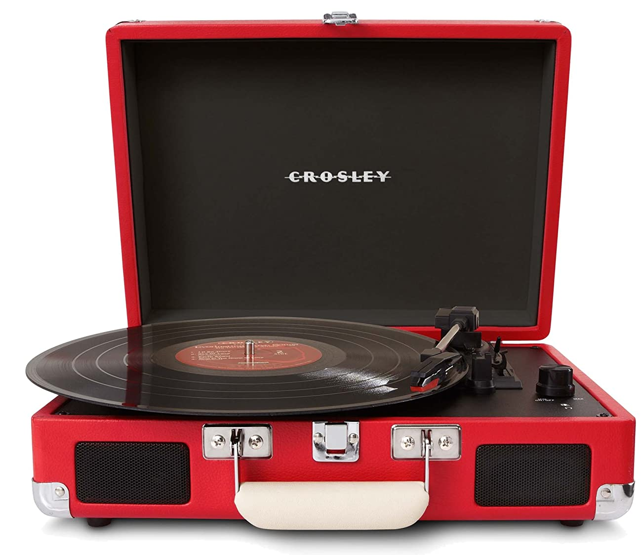 Crosley CR8005A-RE Cruiser Portable 3-Speed Turntable, Red 0
