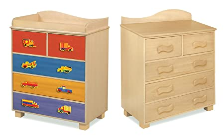 Room Magic Natural 5 Drawer Chest, Boys Like Trucks