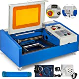 Mophorn Laser Engraving Machine 40W CO2 Laser Engraver 12x8 Inch Laser Cutting Machine USB Port LCD Display with Rotate Wheels(40W 300x200) (Color: 40W LED Display, Tamaño: 40W LED Display with Movable Wheel)