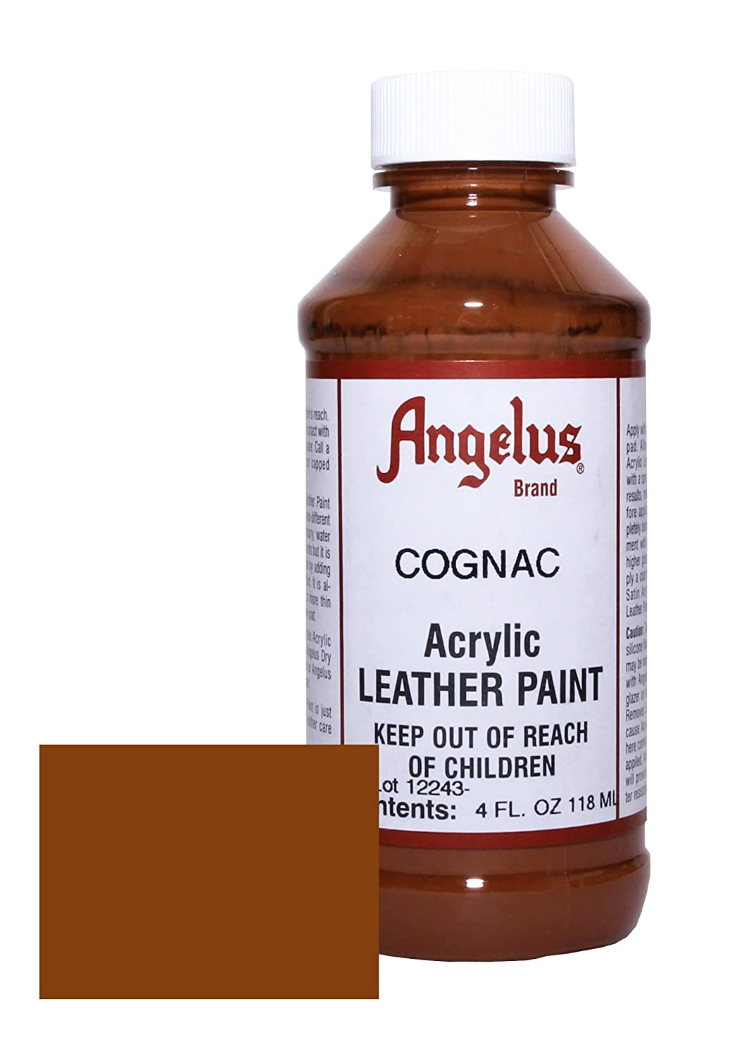 цена на  Angelus Acrylic Leather Paint-4oz.-Cognac