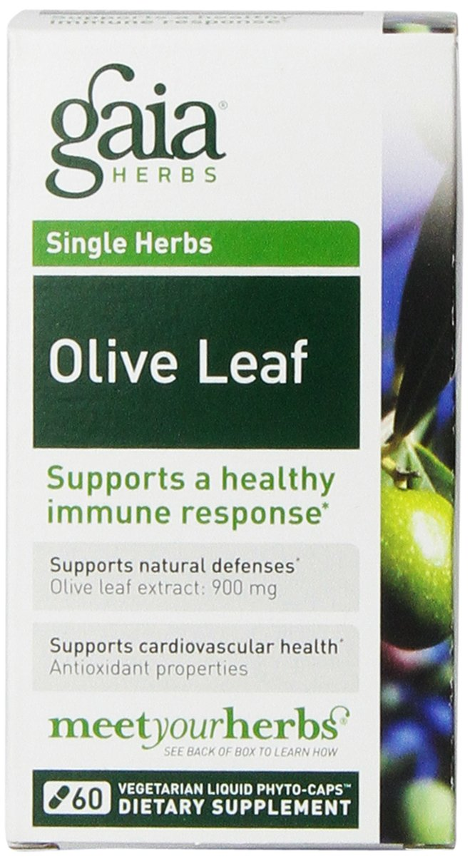 Gaia Herbs Olive Leaf Liquid Phyto-Capsules, 60 Count