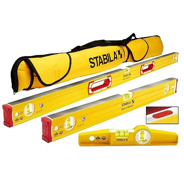 Stabila 96M Magnetic Level Set Kit - 48/24 Torpedo and Case
