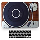 Bizcustom MacBook Pro15 CD Vintage Wood Music Player Design Paint Hard Rubberized Case and Black Keyboard Cover for MacBook Pro 15 CD-ROM Model A1286, None Retina (Tamaño: Macbook Pro 15 CD-ROM A1286)