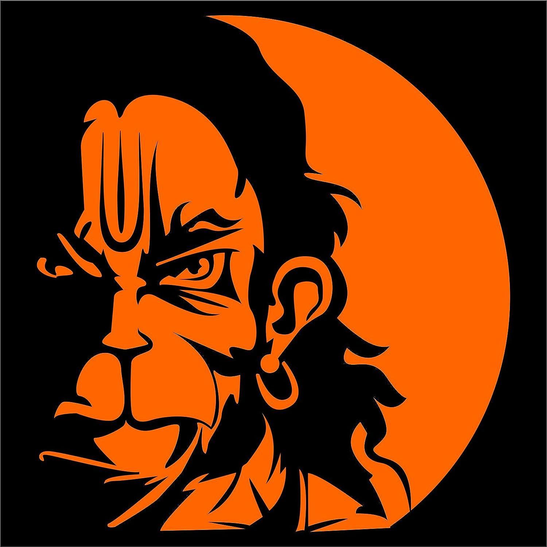 Bike stickers design discover - Idesign Orange Center Hanuman Face For Car Scooters