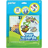 Perler Beads Pattern Cards and Perler Pegboards for Biggie Beads, Fuse Bead Activity Kit for Kids Crafts, 20 pcs (Color: Biggie Beads, Tamaño: 1-Pack)