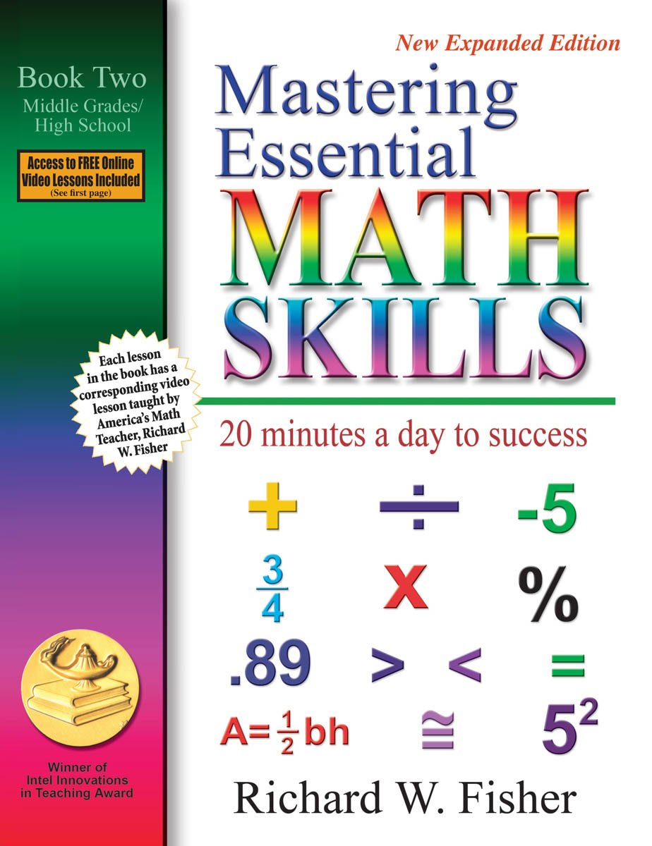 Mastering Essential Math Skills Book Two – Middle and High School Grades:  Pre- Algebra Concepts