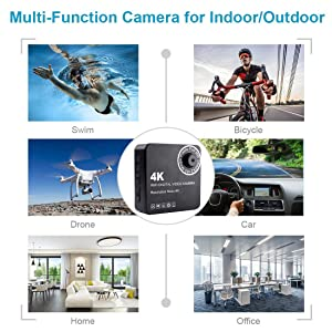 MATECam 4K DIY X1 Wireless Camera Mini DVR Motion Detection Nanny Cam 4000mah Remote Control Security System up to 128GB (Color: 80°)