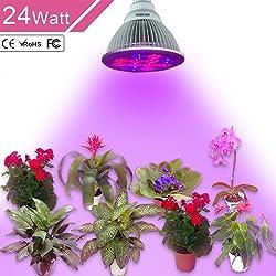 24W LED Grow Light, UNIFUN E27 Plant Bulbs Plant Growing Bulb
