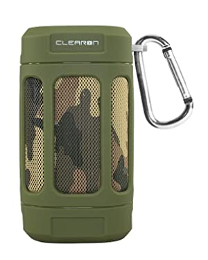 CLEARON Portable Bluetooth 4.0 Waterproof Speaker - Outdoors, Hiking & Bicycle Cycling w/ 12 Hours of Playtime & 100 ft. Bluetooth Range - Premium Sound Quality & A Loud Mini Speaker (Camouflage) (Color: Camouflage)