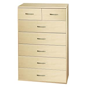 Burton 5 plus 2 Drawer Chest   MDF with Maple Finish   Contemporary       review and more news