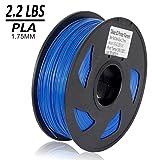 Dikale PLA 3D Printer Filament - 1KG(335m/1099ft) 1.75mm, Dimensional Accuracy +/- 0.02 mm, 1KG Spool 1.75 mm, Blue (Color: PLA2.2lbs-Blue(335m/1099ft))