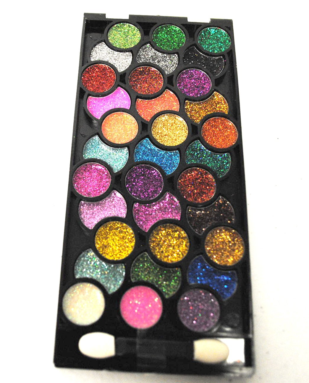 Dazzling 33 Color Neon Glitter Eyeshadow Makeup Kit ...