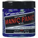 Manic Panic Rockabilly Semi-Permanent Color Cream, Blue (Color: Blue, Tamaño: 4 Ounce)